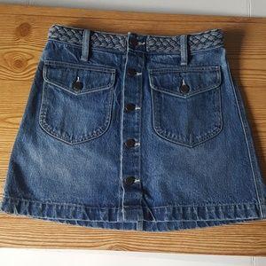 Dresses & Skirts - Denim Button Front Skirt